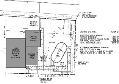 Weller Pool_site plan